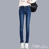 春夏季2021新款高腰牛仔褲女直筒長褲寬鬆大碼顯瘦黑色小直筒褲子 范思蓮恩