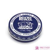 荷蘭 REUZEL豬油 深藍豬(黑豬)強力纖維級水性髮泥(1.3oz/35g) 水洗式髮油 Fiber Pomade-公司貨