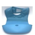 【拆售商品 特價 】美國 OXO  Bib 可收捲防碎屑圍兜 / 防水圍兜 / 防漏接圍兜【藍色】-超級BABY