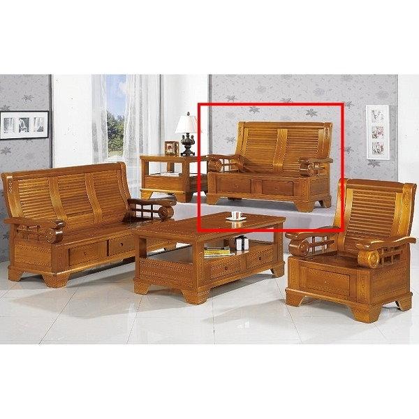 沙發 PK-302-9 108型柚木組椅二人椅(不含茶几)【大眾家居舘】