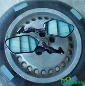 機車兄弟【DREAM BASE RM1 後視鏡】(LED流水款) (藍鏡)