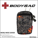 Colorful 機能性 潮流休閒小包 / 手機袋 拼圖圖案 (black) AMINAH~【BODYSAC B6618】