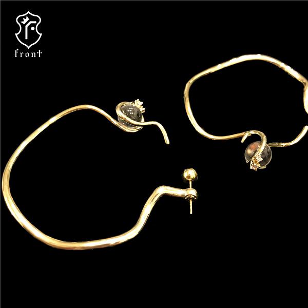 【Front 耳環】梅杜莎天然AA級水晶獨特造型耳環(Medusa-E耳環)