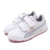 Puma 休閒鞋 Stepfleex 2 SL VE V PS 白 紫 童鞋 中童鞋 運動鞋 【PUMP306】 19252212