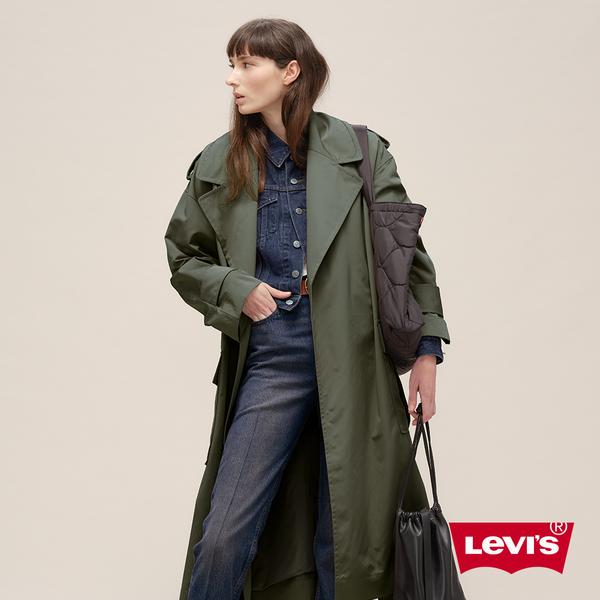 Levis 女款 長版大劍領軍裝夾克 / 腰間繫帶 / 橄欖綠