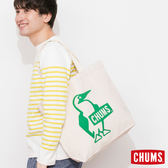 CHUMS 日本 帆布包 購物袋 舒適寬肩帶 綠 CH602149M001