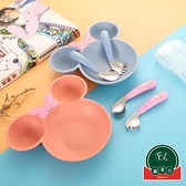 寶寶學吃飯訓練勺叉輔食餐具套裝兒童彎頭勺叉子【福喜行】