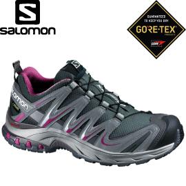 【SALOMON 索羅門 女款 XA PRO 3D GORE-TEX W〈灰/神秘紫〉】368899/休閒鞋/登山鞋/運動鞋★滿額送