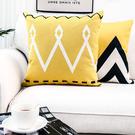 預購★0425-06原創設計北歐黑白簡約棉麻大抱抱沙發床靠墊客廳辦公室靠腰汽車  (43*43cm/枕套)