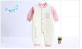 嬰兒保暖衣 加棉冬裝純棉連身衣寶寶秋裝保暖爬服嬰兒秋冬夾棉加厚哈衣衣服冬