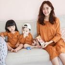 漂亮小媽咪 哺乳 親子裝 套組【BS0250GU】休閑兩件套孕婦連衣裙親子裝哺乳衣