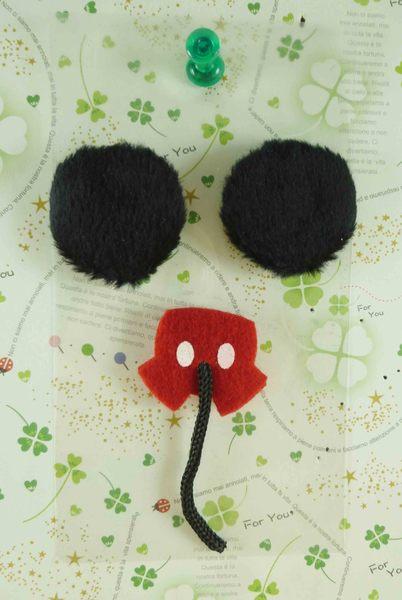 【震撼精品百貨】Micky Mouse_米奇/米妮 ~絨毛手機貼-耳朵