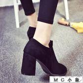 膝上靴 英倫風短靴女秋冬女靴及裸靴