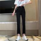 黑色牛仔褲女夏季薄款2021新款九分褲緊身高腰顯瘦百搭褲子ins潮 夏季新品