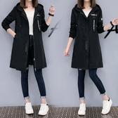 風衣外套 中長版風衣學生春秋外套女正韓風寬鬆顯瘦外套女潮  快速出貨