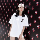 寬鬆白色t恤女2021年夏季韓版超火短袖中長款半袖網紅大碼上衣ins 【端午節特惠】