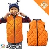 【GRAVITY 兒童 輕量羽絨背心 桔】GV301O/兒童背心/羽絨衣/羽絨背心/保暖背心
