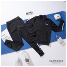 Catworld 舞動線條。立領外套長褲運動套裝兩件組【16600606】‧S-3XL