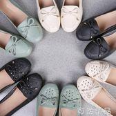春季中年女鞋平跟媽媽鞋單鞋軟底豆豆鞋女大碼淺口中老年皮鞋  可然精品鞋櫃