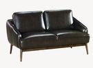 【南洋風休閒傢俱】沙發系列-藍山雙人皮沙發組 工業風雙人沙發 實木沙發組(JX176-11)