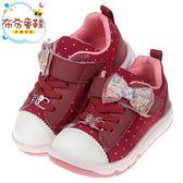 《布布童鞋》Moonstar日本明日香蕾絲蝴蝶結紅色兒童機能休閒鞋(15~19公分) [ I8Y122A ]