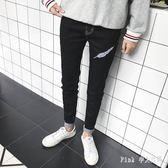 中大尺碼牛仔褲男 男士長褲秋季韓版小腳褲鉛筆褲 nm6821【Pink中大尺碼】