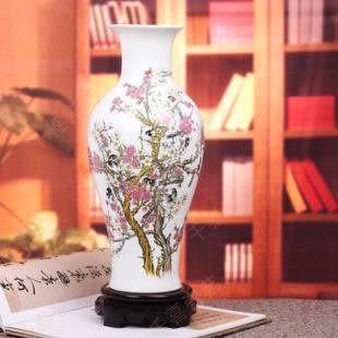 景德鎮陶瓷器 白色魚尾瓶