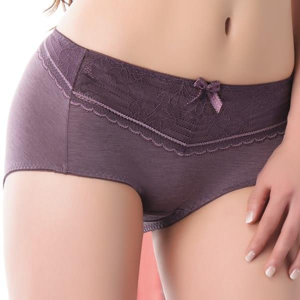 思薇爾-舒棉Bra系列中低腰平口褲(紫褐色)