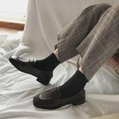 小皮鞋女復古英倫風新款潮鞋秋冬季加絨韓版百搭平底單鞋 交換禮物