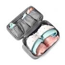 貼身衣物三層收納袋 19-19048 戶外.旅行.旅遊.出國.清潔袋.旅行袋.收納袋 (顏色隨機出貨)