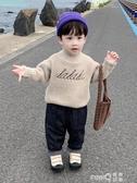 男童毛衣套頭2020新款兒童加厚高領水貂絨打底衫寶寶秋冬款針織衫  (pink Q時尚女裝)