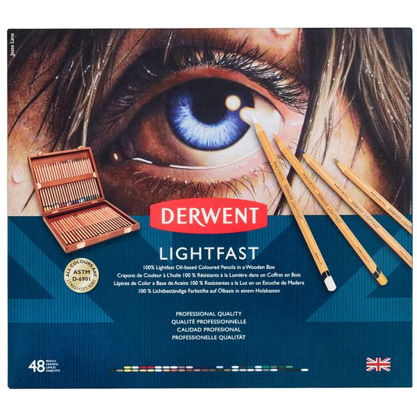 德爾文 LIGHTFAST油性色鉛48色木盒裝 2305692