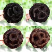 丸子頭假髮包頭飾造型髮包九朵花爪夾假髮圈女生盤髮器抓夾花苞頭 qf27939【MG大尺碼】