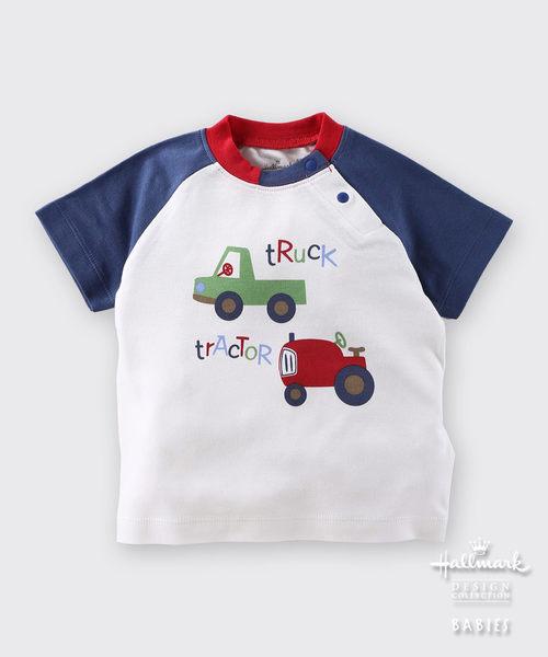 【特惠6折】Hallmark Babies 雙色車車圖案短袖上衣 HD1-N01-05-BB-PN