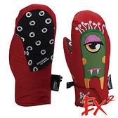 【 EX2 】青少年滑雪保暖連指手套『紅』862401 休閒.戶外.保暖.保暖手套.絨毛手套.刷毛手套.青少年