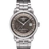 TISSOT 天梭 LUXURY JUNGFRAUBAHN 特別版機械手錶-灰/41mm T0864071106110