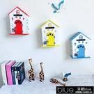 信箱 可愛木質信箱盒創意家居班級信箱藍色心語信箱學校幼兒園田園風