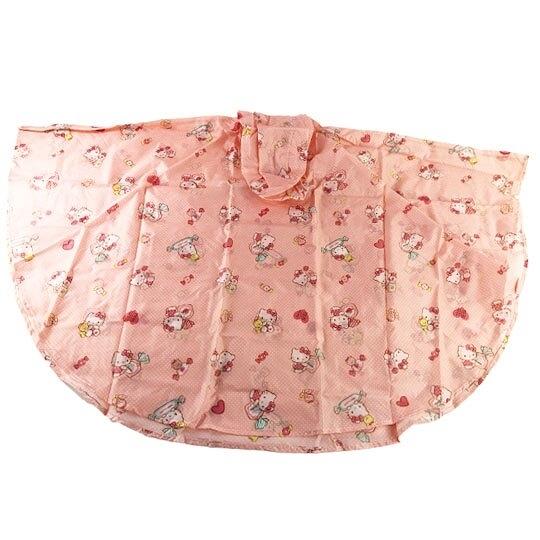 小禮堂 Hello Kitty 兒童披風式雨衣 附收納袋 斗篷雨衣 兒童雨衣 130-145cm (L 粉) 5713304-52096