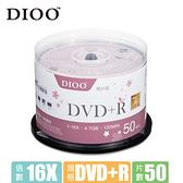 DIOO 櫻花版 16X DVD+R 50片桶粉