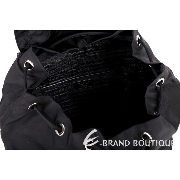 PRADA 口袋設計尼龍後背包(大/黑色) 1520465-01
