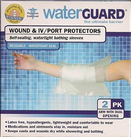 兒童傷口防水隔離套 美國原裝Waterguard  2入 手袖套雙開式  適合海灘泳池林浴