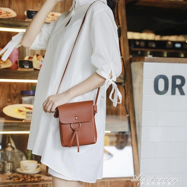 手機包女新款斜背大屏韓版復古側背百搭零錢包學生迷你小包包 黛尼時尚精品