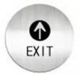 迪多deflect-o   612210C   EXIT  英文出口-鋁質圓形貼牌 / 個
