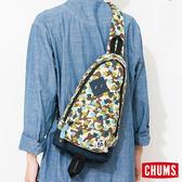 CHUMS 日本 SxN 經典單肩斜背包 腳印迷彩/深藍 CH602120Z041