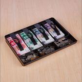 四格超市收銀盒 收銀箱 抽屜收銀盤 收款盒 收錢盒 現金盒【快速出貨】