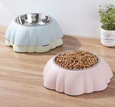 貓碗狗碗寵物碗食盆南瓜型創意可愛不銹鋼抗菌狗碗3色可選