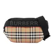 【BURBERRY】中型 Vintage 格紋及標誌性條紋腰包(典藏米色) 8026557 A7026
