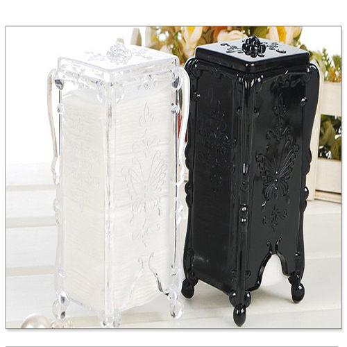 Kiret 收納盒 化妝棉盒 水晶蝴蝶抽取式化妝棉盒(四色)