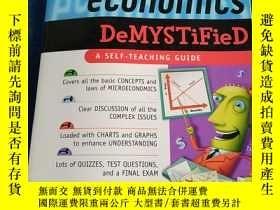 二手書博民逛書店micro-economics 微觀經濟學 A罕見SELF- TEACHING GUIDE 自學指南Y2233