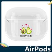 AirPods Pro 卡通彩繪耳機套 透明塗鴉 皇冠KING 愛心 防摔 充電 矽膠套 保護套 蘋果 Apple